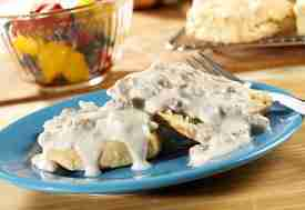 Best Biscuits and Sausage Gravy