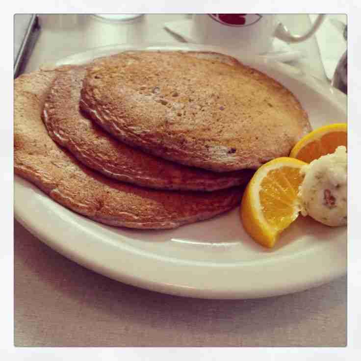 Blue Corn pecan Pancakes