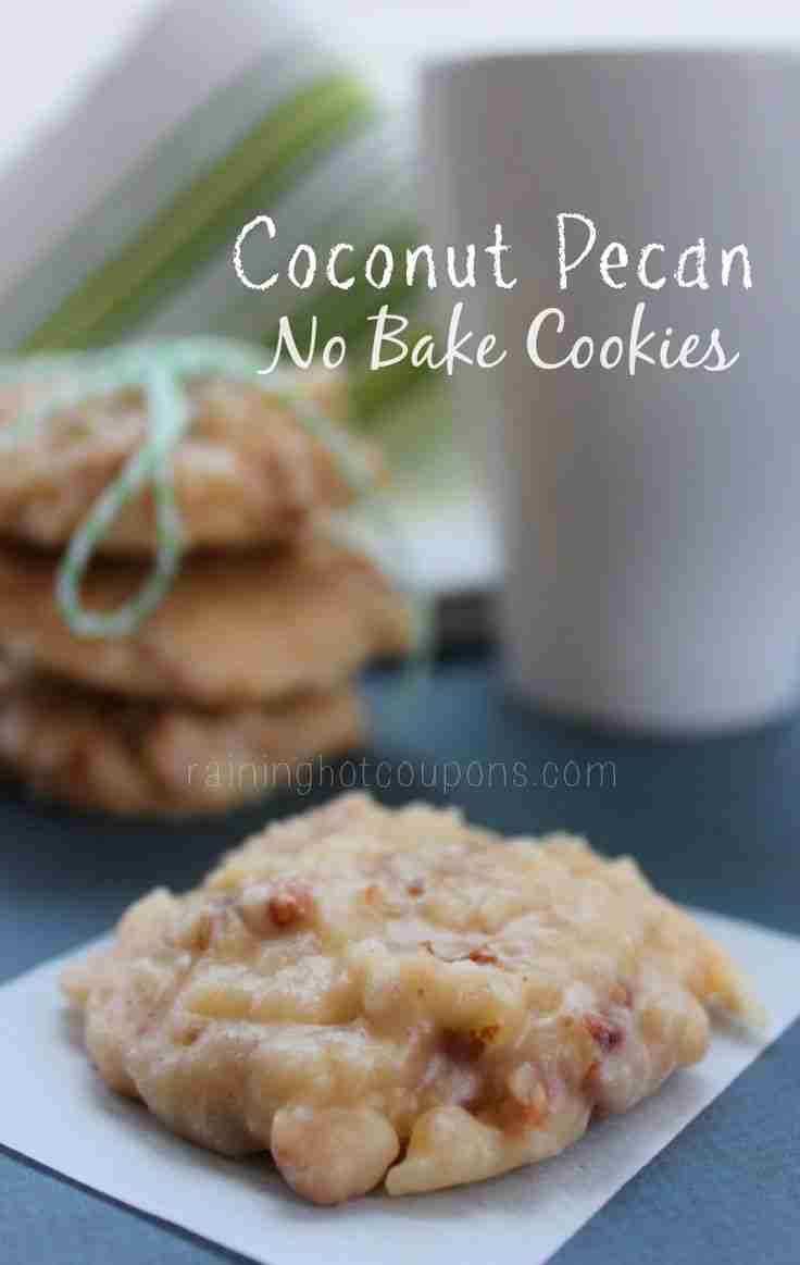 Coconut Pecan No Bake Cookies