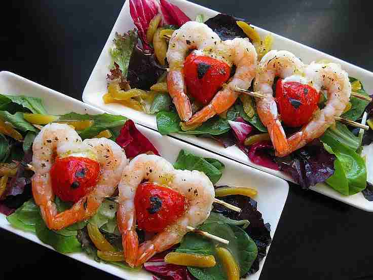 Twin Hearts Apricot Glazed Shrimp and Peppadew Salad Recipe