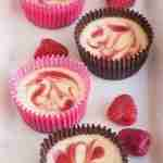 Raspberry Swirl Mini Cheesecakes