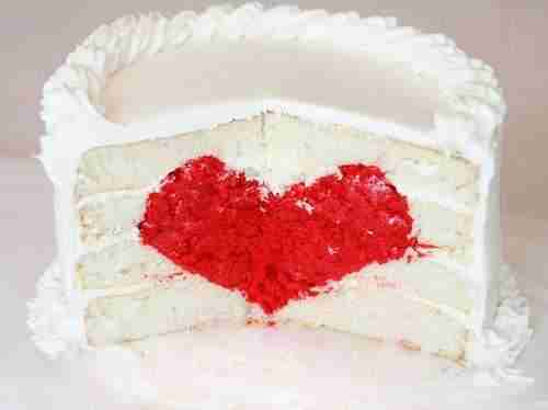 Surprise Inside Cake Heart Cake