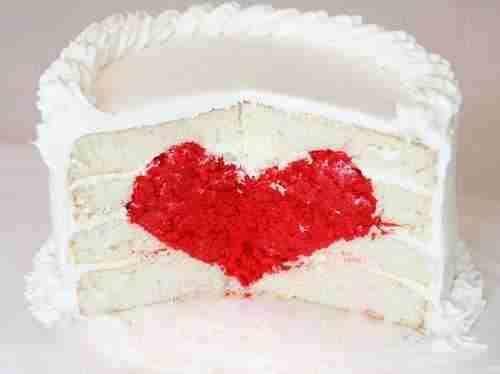 Surprise Inside Cake Heart Cake