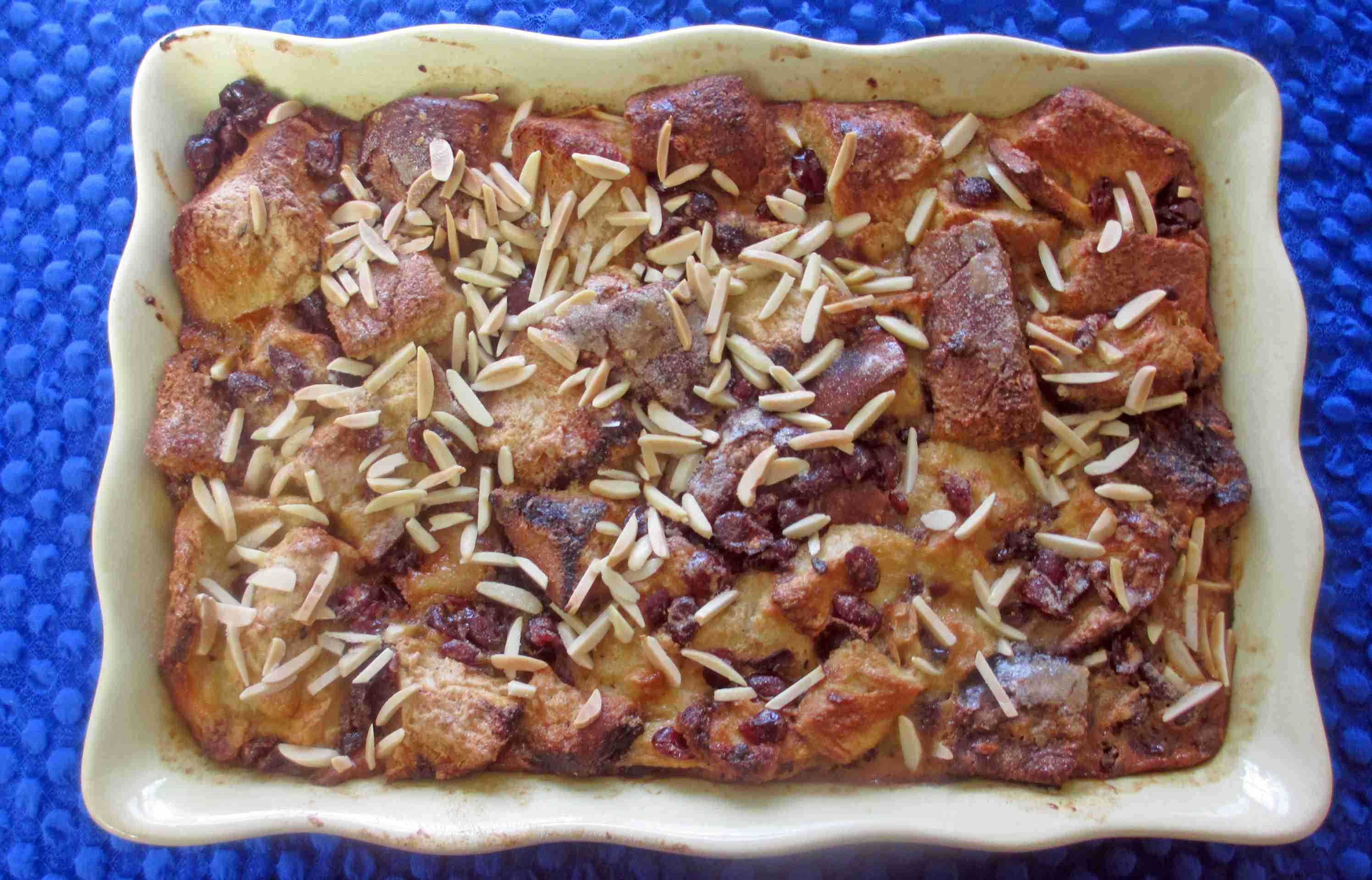 Almond Bread Pudding