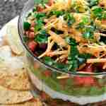 7 Layer Dip with Homemade Salsa