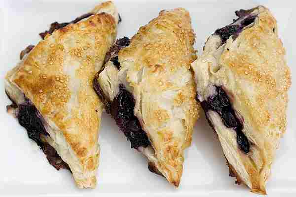 Blueberry Vanilla Cream Turnovers