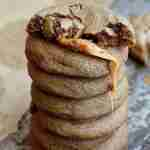 Caramel Stuffed Soft Gingerbread Cookies