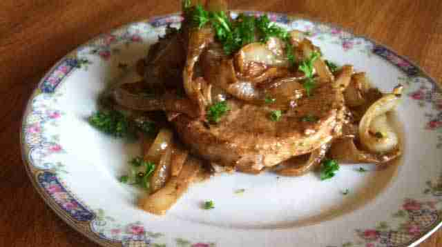 Creamy Onion Smothered Pork Chops