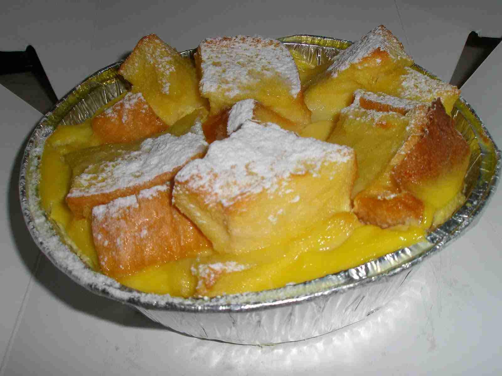 Bread Pudding and Vanilla Sauce