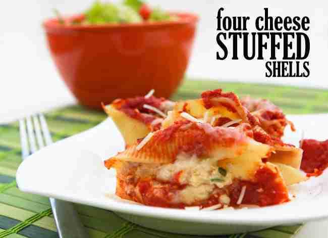 Four cheese stuffed shells