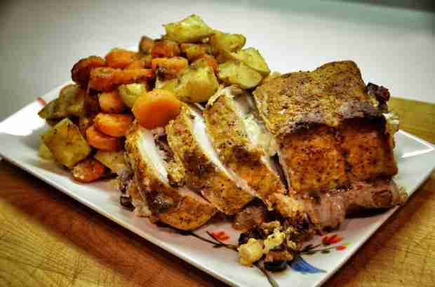 Fruit & Nut Stuffed Pork Chops