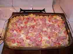 Grandma Leen's Mac and Ham Casserole