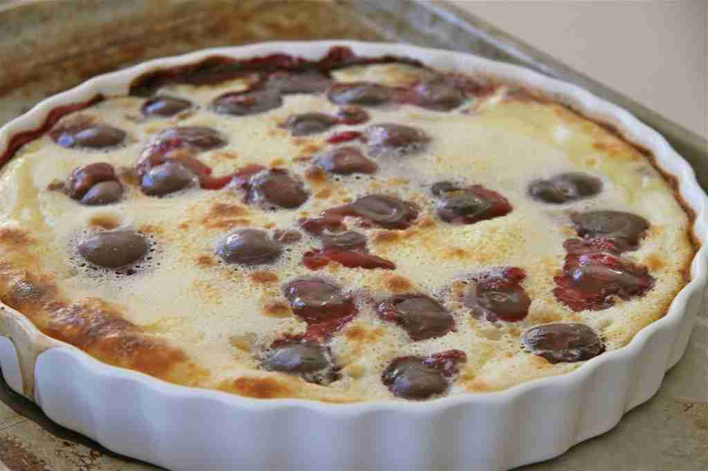Cherry Clafouti with Chocolate Cookie Crust