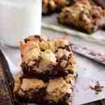 Layered Chocolate Chip Cookie Brownies