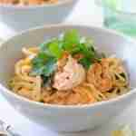 One-Pan Coconut Shrimp Noodle Bowls
