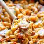 One Pot Andouille Sausage Skillet Pasta