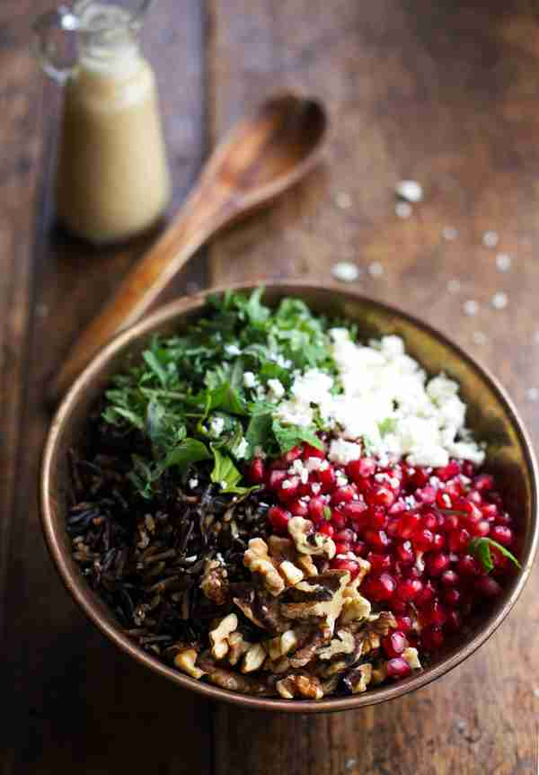 Raw Kale Salad With Pomegranate And Toasted Walnuts Recipes ...