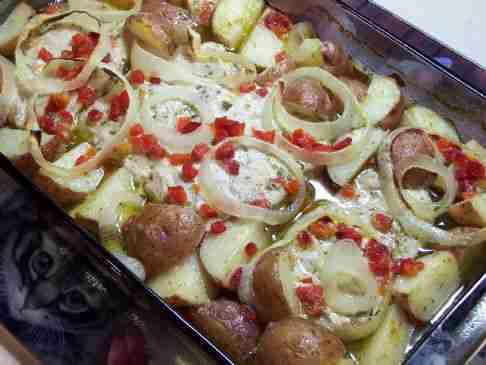 Pork Chops with Sliced Potatoes