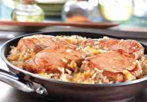 Quick Glazed Pork & Rice Skillet
