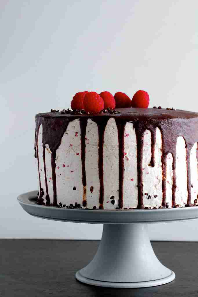 Raspberry Ganache Cake