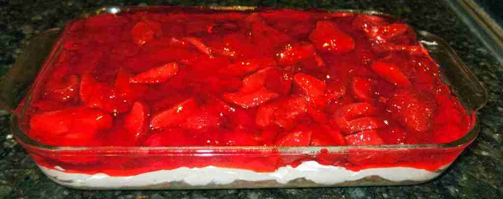 """Everything"" Jello Pretzel Salad"