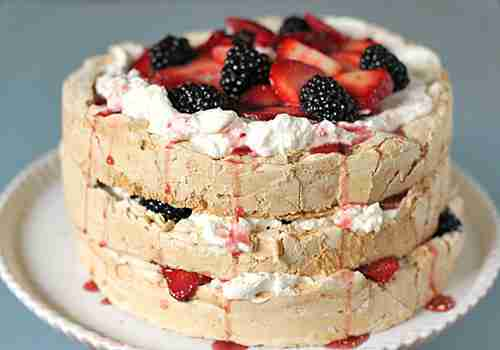 Berry Pavlova Dessert