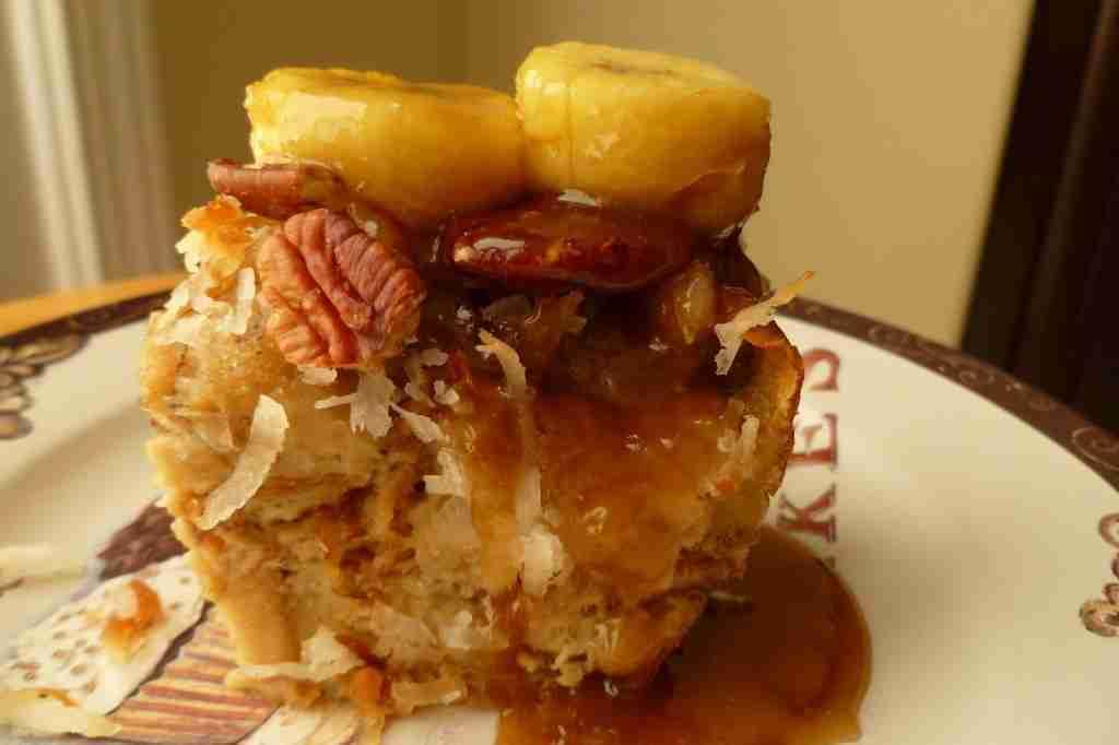 Caramel Pecan Bread Pudding