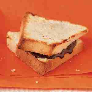 Chocolate Angel-Foodstuff Cake Sandwiches