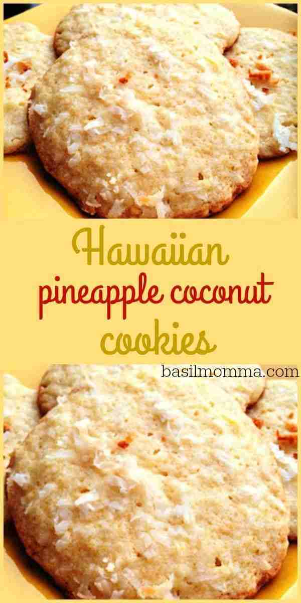 Hawaiian Pineapple Coconut Cookies Recipe – The perfectly sweet, chewy cookie! Get the recipe from @basilmomma