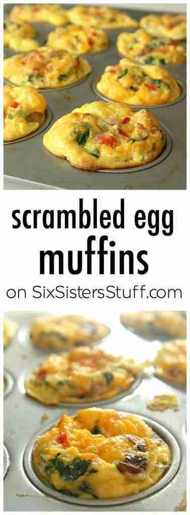Scrambled Egg Muffins on Six Sisters Stuff