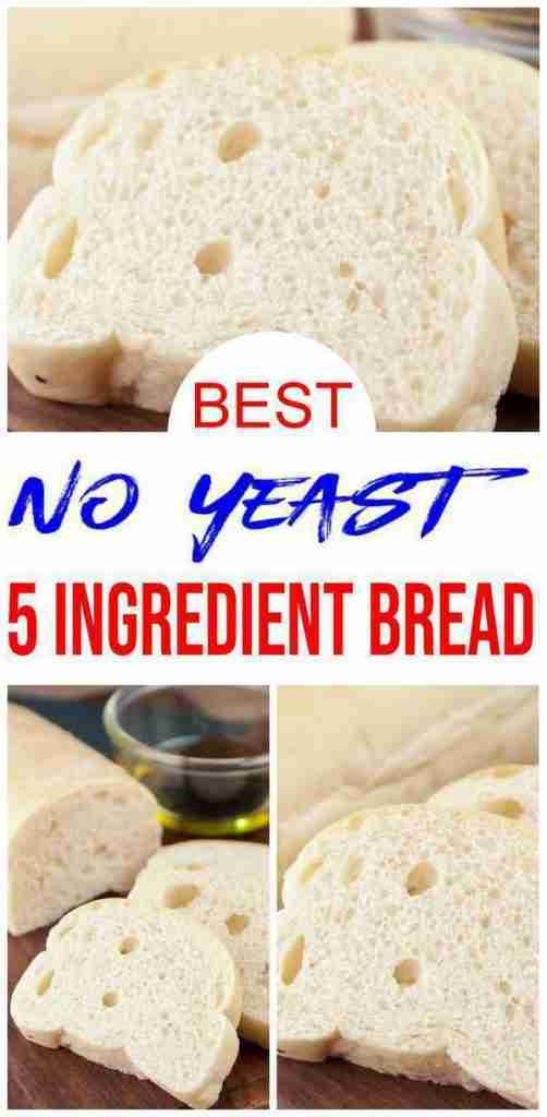 5 Ingredient Bread – Easy Homemade No Yeast Quick Loaf Bread – BEST Bread Recipes – Eggless DIY Baking