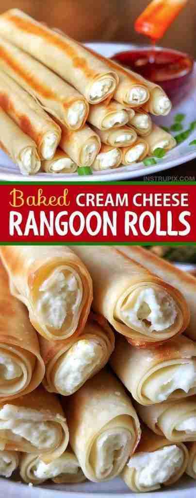 Baked Cream Cheese Rangoon Rolls