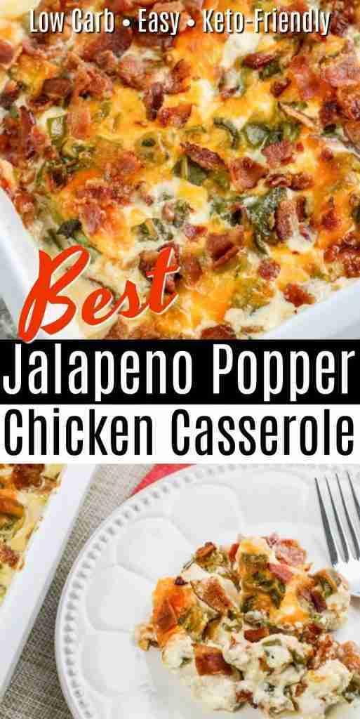 Best Jalapeno Popper Chicken Casserole