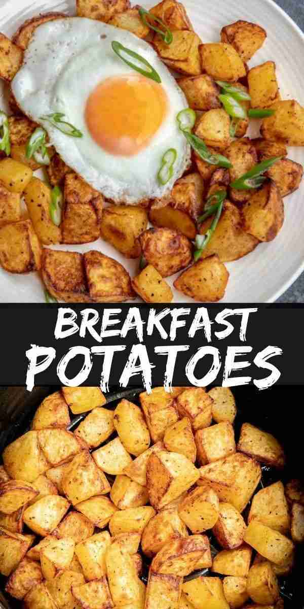 Breakfast Potatoes made in the Air Fryer are cooked in only 15 minutes and produ…