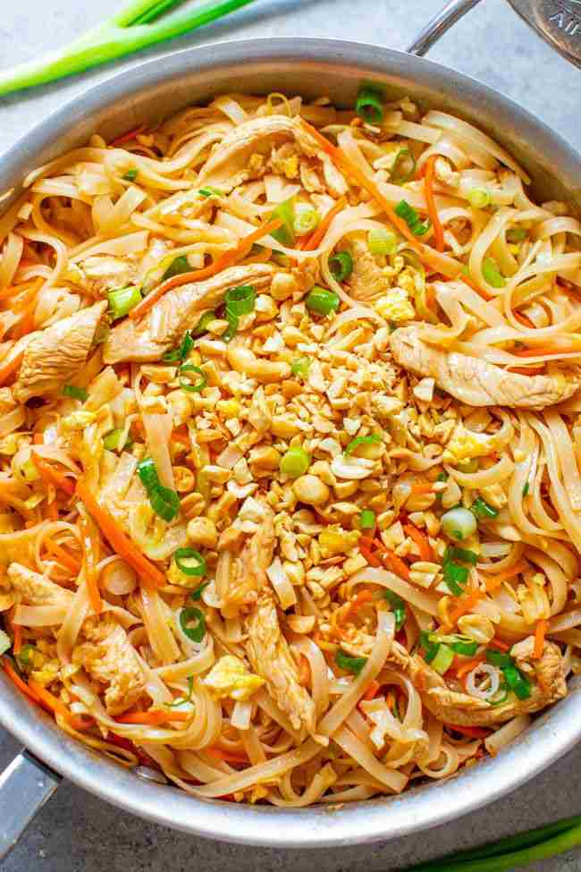 Chicken Pad Thai (EASY 20-Minute Recipe!) – Averie Cooks