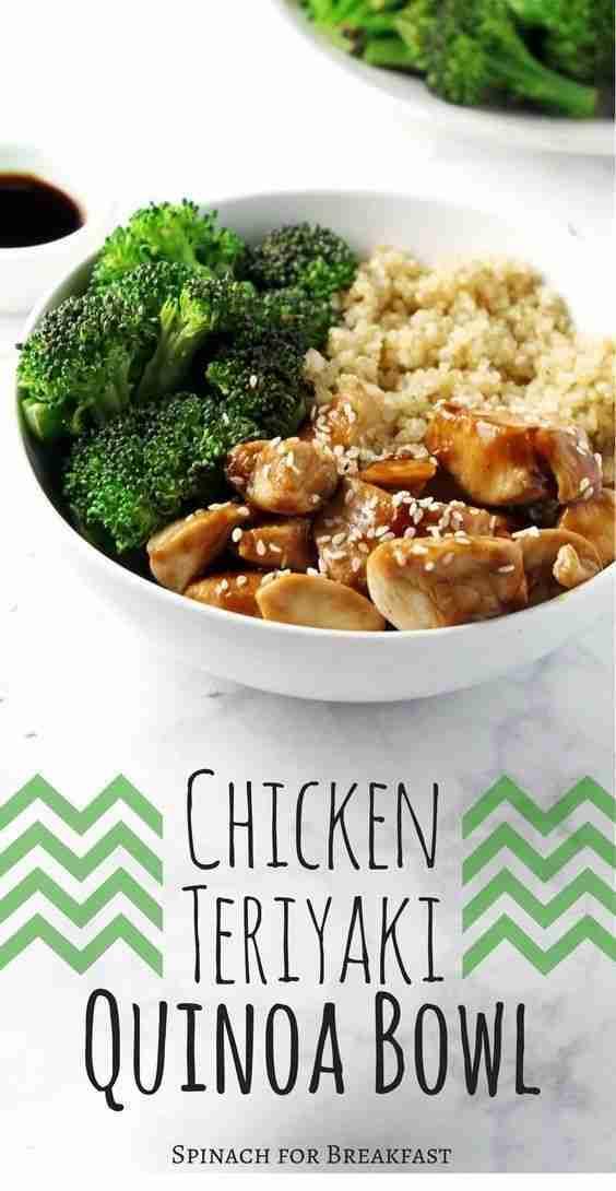 Clean Eating | Chicken Teriyaki Quinoa Bowl | #breakfast #lunch #dinner | Food R…