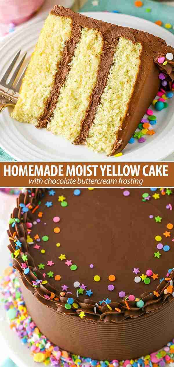 Easy Yellow Cake with Chocolate Frosting Recipe | Better Than Cake Mix