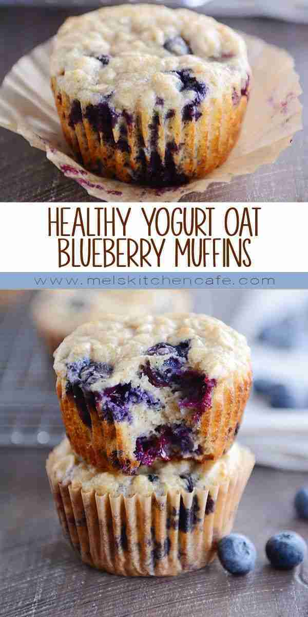 Healthy Yogurt Oat Blueberry Muffins | Or Chocolate Chips! | Mel's Kitchen Cafe