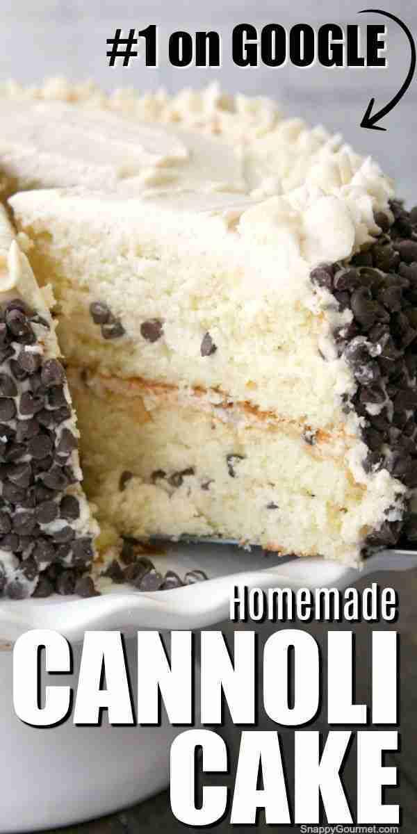 Homemade CANNOLI CAKE recipe