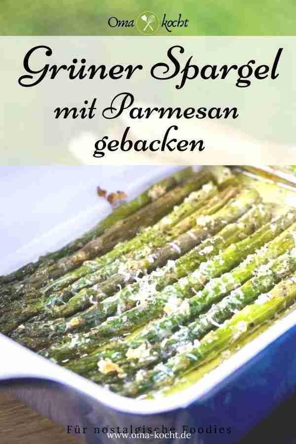 Mit Parmesan überbackener Spargel aus dem Ofen | Rezept