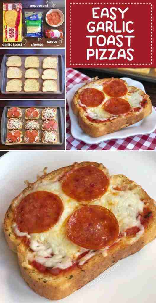 Quick & Easy Family Dinner Recipe: Garlic Toast Pizzas (kids love these!)