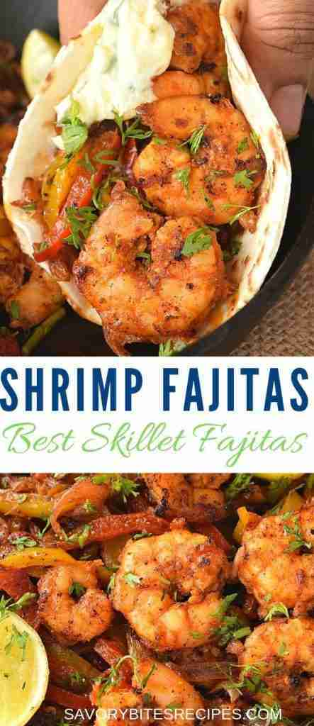 Spicy Skillet Shrimp Fajitas!