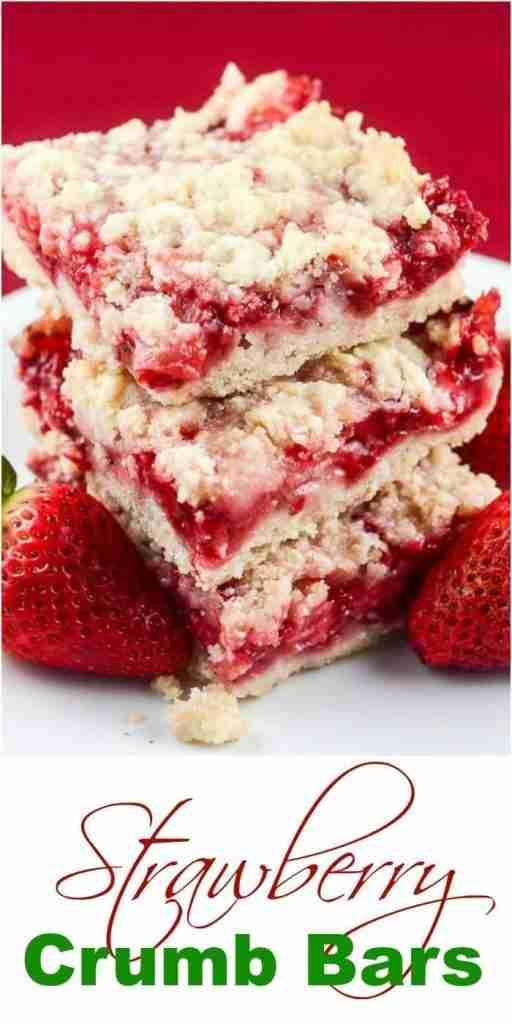 Strawberry Crumb Bars – Flavor Mosaic