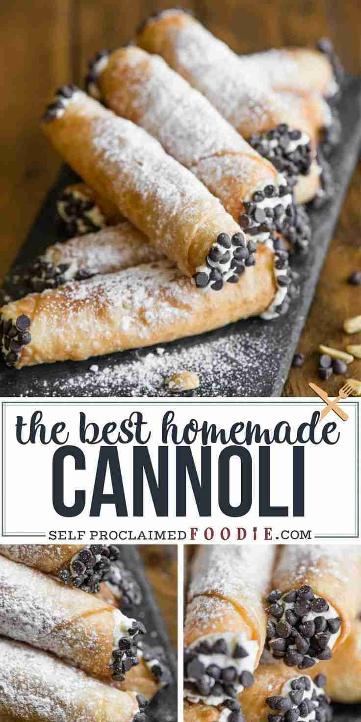 {The BEST} Homemade Cannoli Recipe | Self Proclaimed Foodie