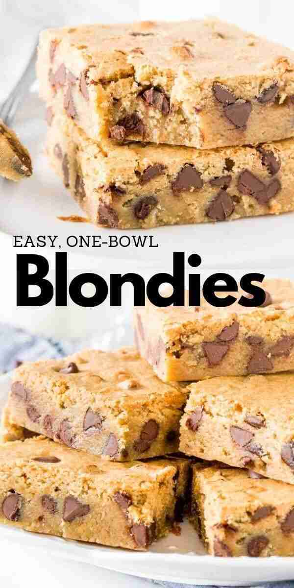 The Best Blondies Recipe – Easy, Chewy, One-Bowl, No-Fail