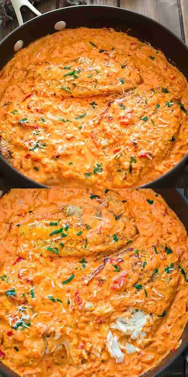 Tilapia in Roasted Pepper Sauce | COOKTORIA
