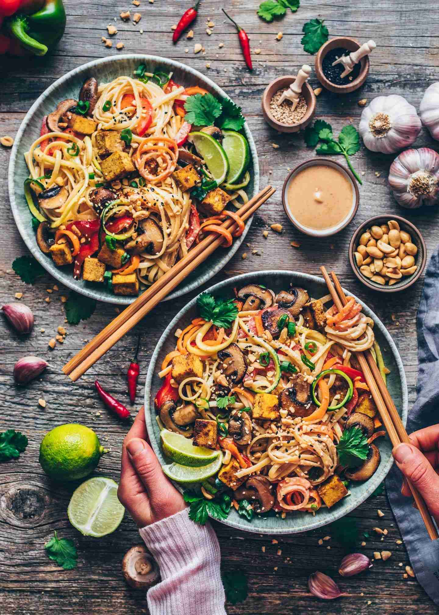 Vegan Pad Thai with vegetable noodles & tofu – Bianca Zapatka | Recipes – Kendra&HealthyRecipesEasy
