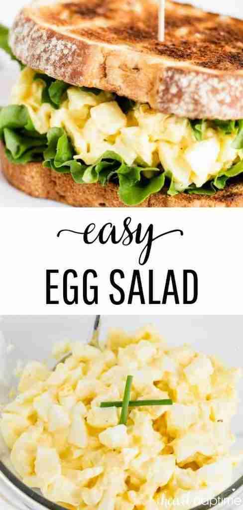 Easy Egg Salad (4 ingredients!)