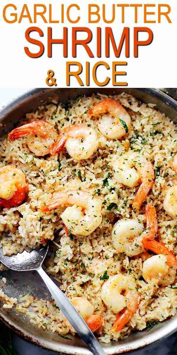 Garlic Butter Shrimp & Rice Recipe   Easy & Delicious Shrimp Dinner Idea