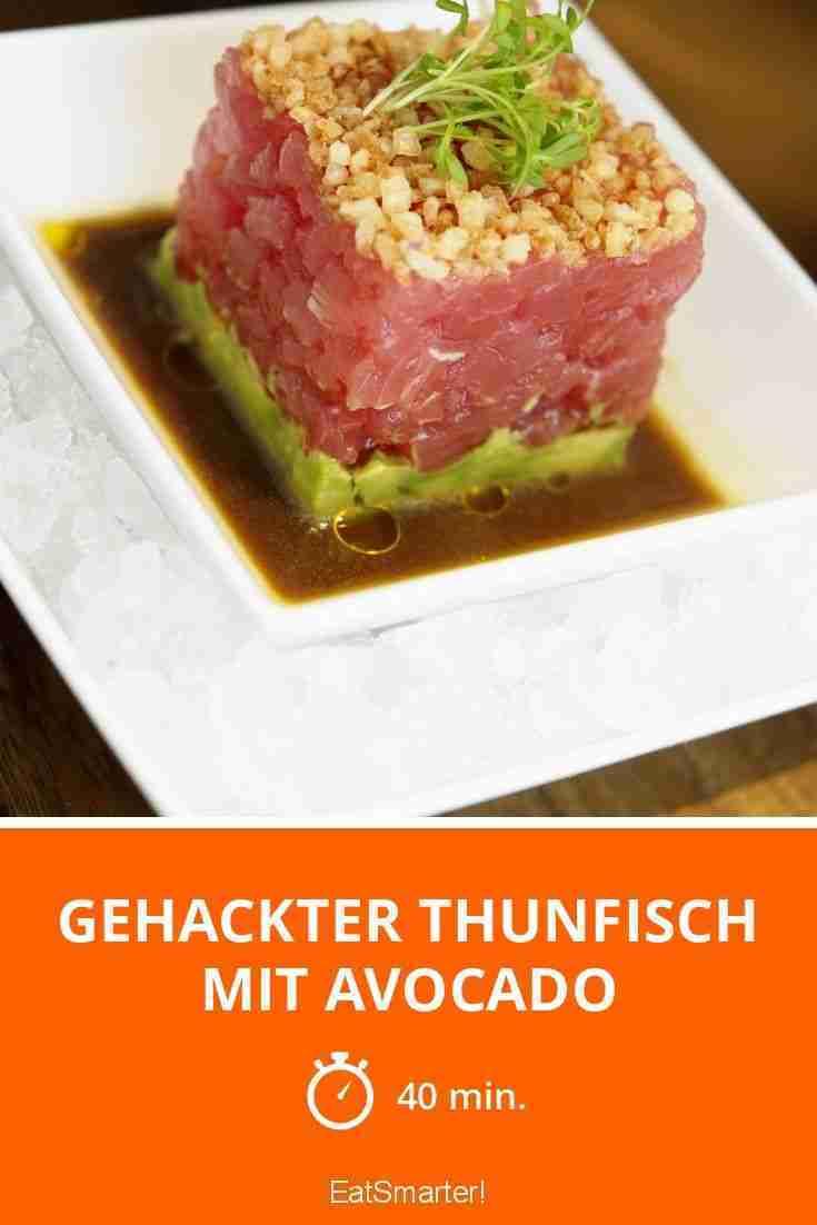 Gehackter Thunfisch mit Avocado